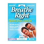 Breathe Right Regular Clear Strips - 10 Pack