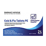 Pharmacy Health Cold & Flu PE Tablets 24