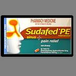 Sudafed PE Sinus Pain Relief Tablets 24
