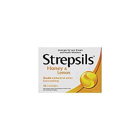 Strepsils Lozenges Honey & Lemon 16