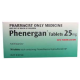 Phenergan 25mg Tablets 50